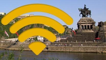 Freifunk bleibt auch am Deutschen Eck in Koblenz frei von Vorratsdatenspeicherung - erst einmal.