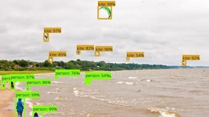 Googles Bilderkennung für Tensorflow identifiziert Objekte.