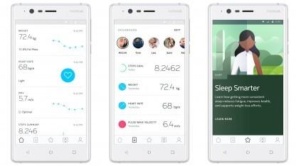 Die neu gestaltete Steuerungs-App Nokia Health Mate