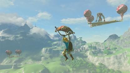 Link ist in The Legend of Zelda: Breath of the Wild in einer offenen Welt unterwegs.