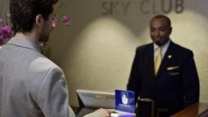 In Washington (DCA) wird eine Fingerabdruckerkennung als Lounge-Zugang getestet.