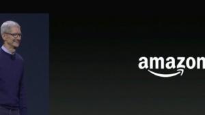 Apple-Chef Tim Cook kündigt Amazon-App für Apple TV an.