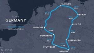 Hyperloop-Trasse durch Deutschland: bis 2021 drei Systeme im Einsatz