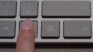 Die Fingerabdrucktaste des Modern Keyboards