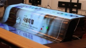 LGs neues OLED-Panel kann flexibel eingesetzt werden.