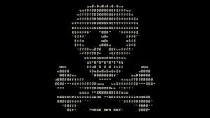 Screenshot einer früheren Version der Petya-Ransomware