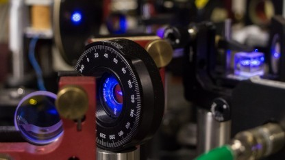 Quantenlab Innsbruck: Quantenexperimente können auch mit Licht durchgeführt werden.