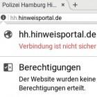 G20: Hinweisportal der Polizei Hamburg hat rechtliche Probleme