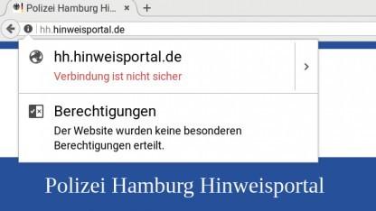 Wenn der Browser vor der unsicheren Webseite der Polizei warnt ...