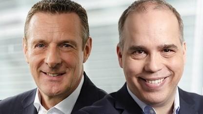 Niek Jan van Damme (links) und Dirk Wössner