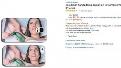 Hat Kultpotenzial: Haarentfernung als Handyhüllen-Motiv
