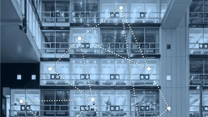 Bluetooth-Nodes vernetzen sich.