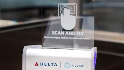 Einer der Fingerabdruckscanner von Delta Airlines