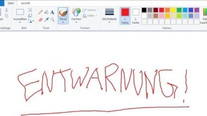 MS Paint soll künftig im Windows Store erhältlich sein.