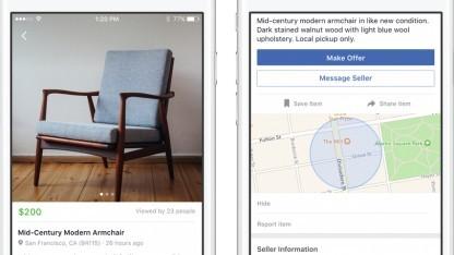 Auf dem Facebook Marketplace können Nutzer ihre gebrauchten Gegenstände verkaufen.