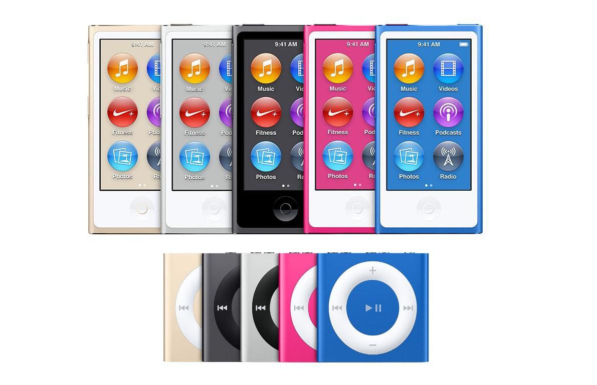 iPod shuffle und iPod nano wurden eingestellt.