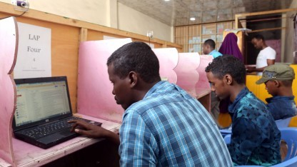 Internet-Café in Mogadischu, Somalia