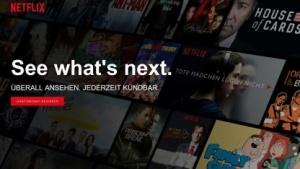Netflix-Startseite