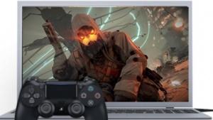 Playstation Now auf einem Laptop.