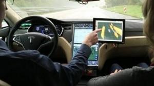 Ein Bosch-Testwagen für automatisiertes Fahren