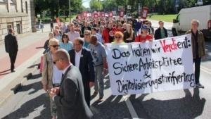 Proteste in der laufenden Tarifrunde
