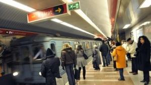 Die U-Bahn in Budapest.