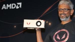Raja Koduri zeigt die Radeon RX Vega 64 Air Cooled Limited Edition.