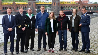 Das Team des Cyber Innovation Hub, unser Gesprächspartner Marcel, 2. v. l.
