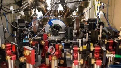 Versuchsaufbau im Quantenlabor in Innsbruck