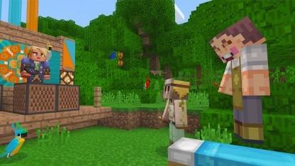 Minecraft Spieler Bauen Plattformübergreifend Zusammen Golemde - Minecraft gemeinsam spielen