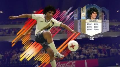 Maradona ist in drei Altersstufen in Fifa 18 vertreten.
