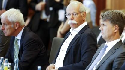 Diesel-Gipfel mit VW-Chef Matthias Müller, Daimler-Chef Dieter Zetzsche und BMW-Chef Harald Krüger