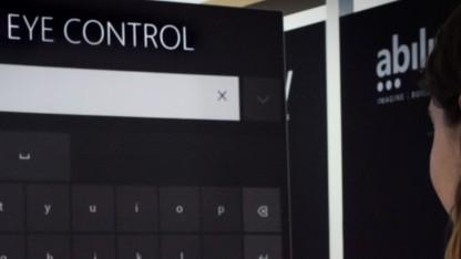 Windows 10 soll sich bald mit Augenbewegung steuern lassen.