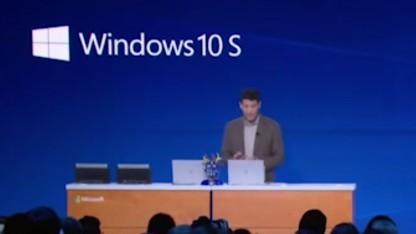 Windows 10 S wurde auf der Microsoft-Messe Build 2017 erstmals vorgestellt.