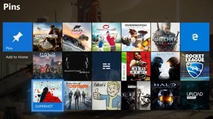 Die neue Benutzeroberfläche der Xbox One.
