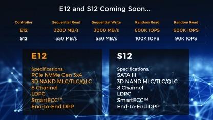 Daten des E12 und des S12