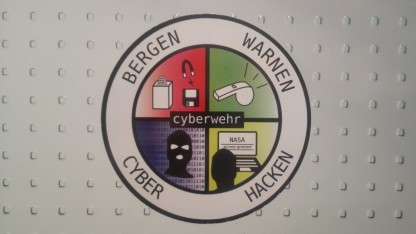 Scherzhaftes Logo einer Cyberwehr.