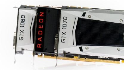 Die Vega 56 ist schneller als eine GTX 1070 aber langsamer als eine GTX 1080