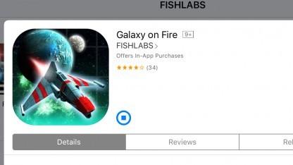 Galaxy on Fire kann noch installiert werden, wird aber bald nutzlos.