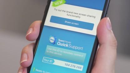 Teamviewer bietet künftig Screen Sharing für iOS an.