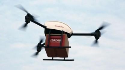 Lieferdrohne von JD.com (Symbolbild): Drohnen stehen nicht im Stau.