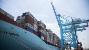 Ein Schiff von Maersk