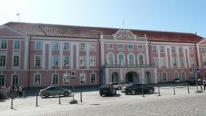 Der Sitz des Riigikogu, des Parlamentes von Estland, in Tallinn