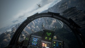 Ace Combat 7 versetzt den Spieler in einen fiktiven Konflikt.