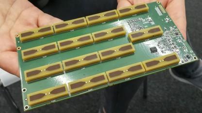 Das Creator-Kit des Walabot-Sensors mit 15 RF-Antennen.
