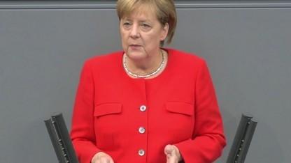 Bundeskanzlerin Merkel im Bundestag