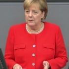 """Merkel im Bundestag: """"Wir wollen nicht im Technikmuseum enden"""""""