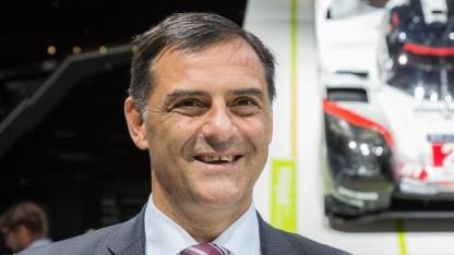 Porsche-Entwicklungschef Michael Steiner auf der IAA 2017: Geräusche markentypisch beeinflussen