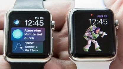 Toy Story und Siri auf der Apple Watch.