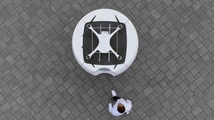 Matternet Station mit M2 von oben: Der Drohnenlieferdienst soll von jedermann genutzt werden können.